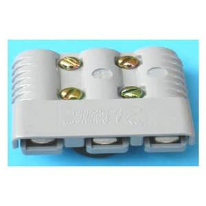 Stekker 175A grijs - 3 pole | Tractiebatterijen.com