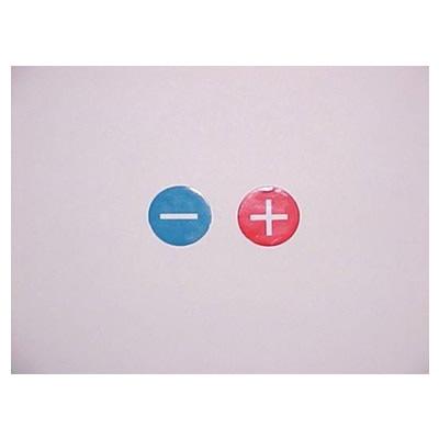 Sticker . + rood | Tractiebatterijen.com